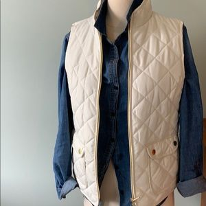 Lightweight, quilted vest.